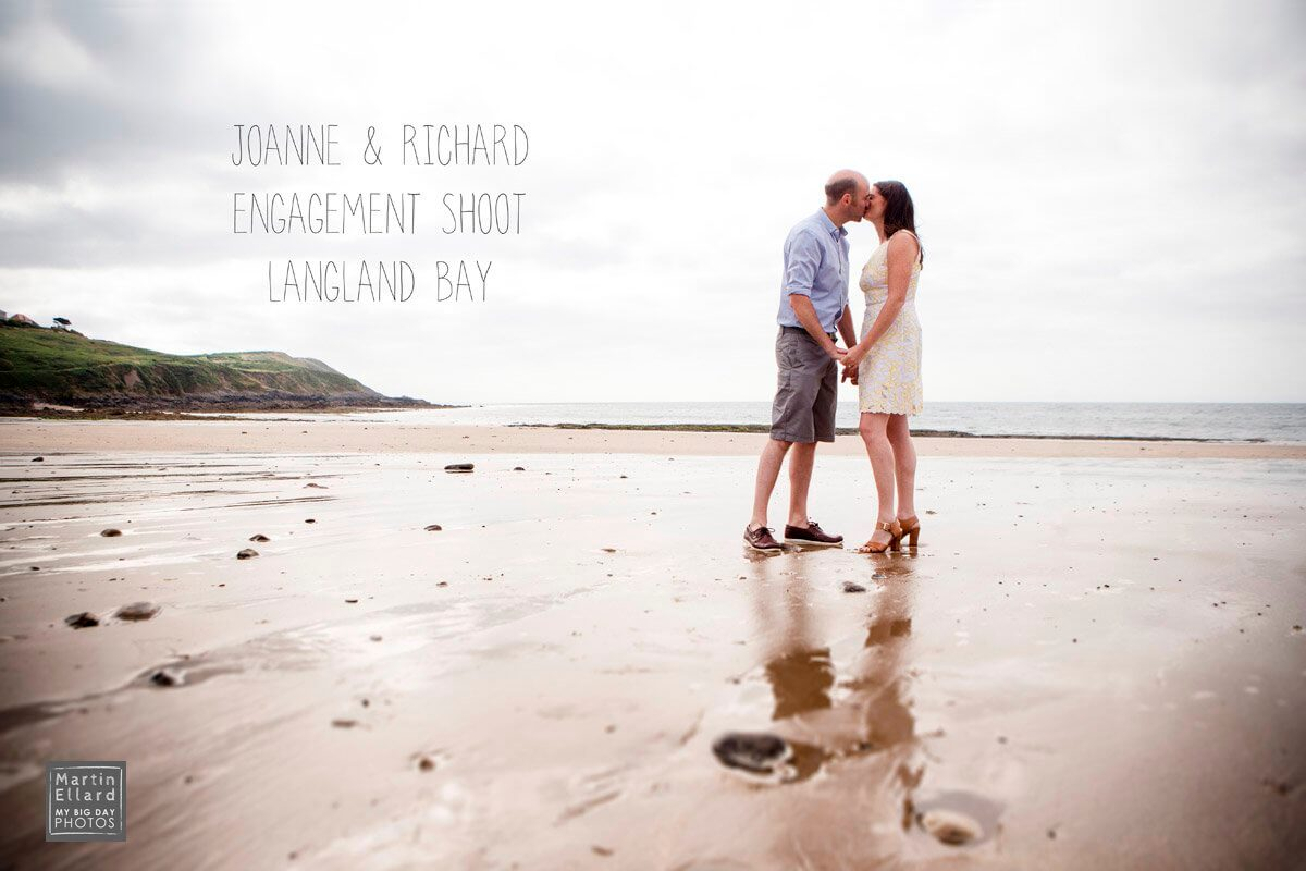 joanne and richards engagement shoot langland bay