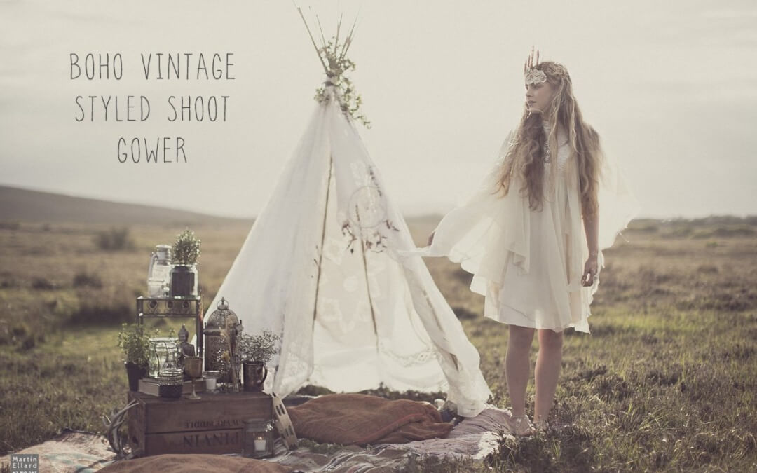 Gower vintage styled photoshoot