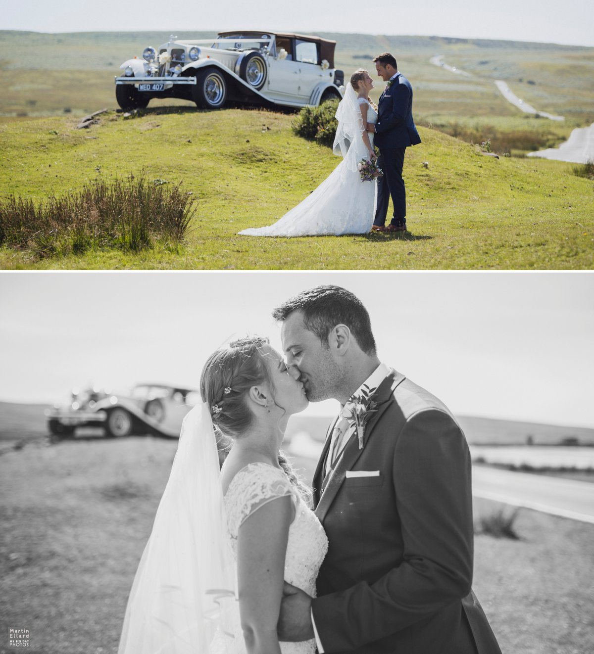wedding couple kissing cefn bryn Gower photographer