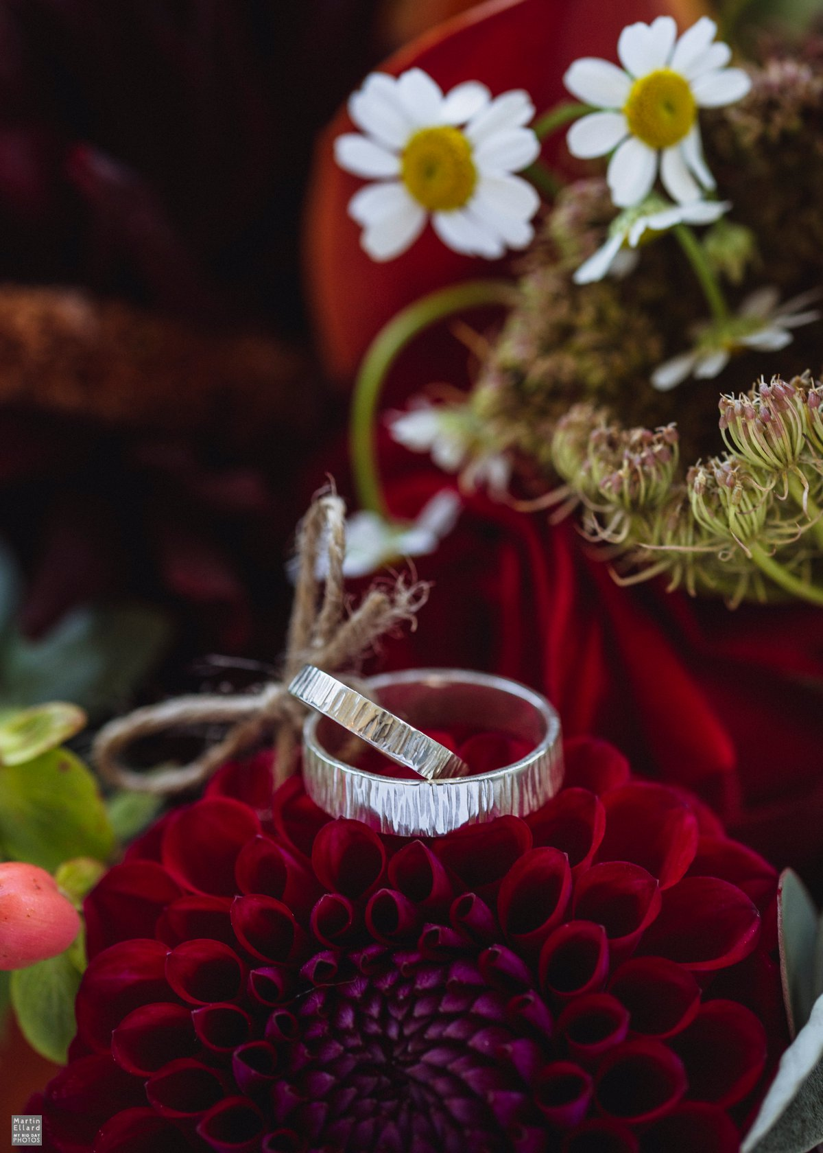 white gold hand made wedding rings