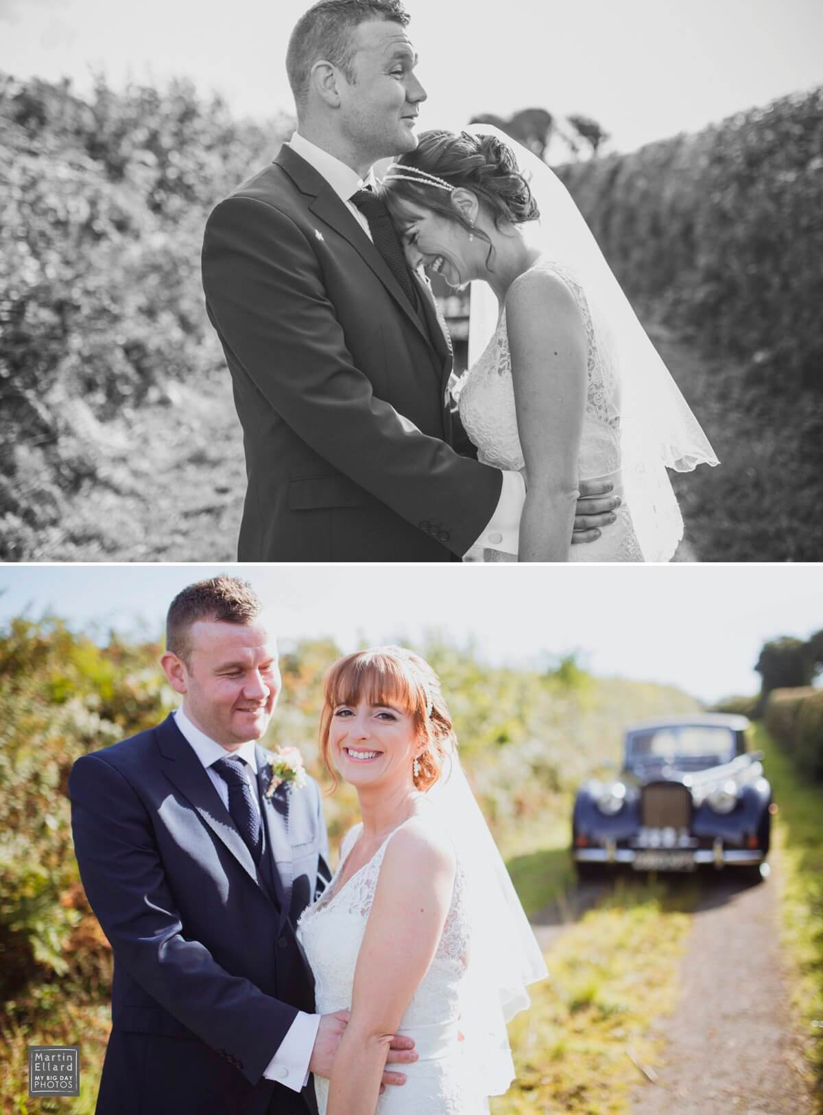 bride and groom photographs in the Gower South Wales wedding photography