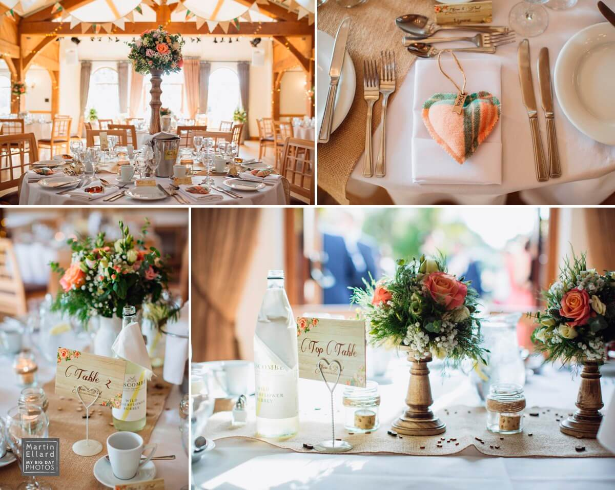 Vintage wedding styling at King Arthur Hotel Reynoldston Gower