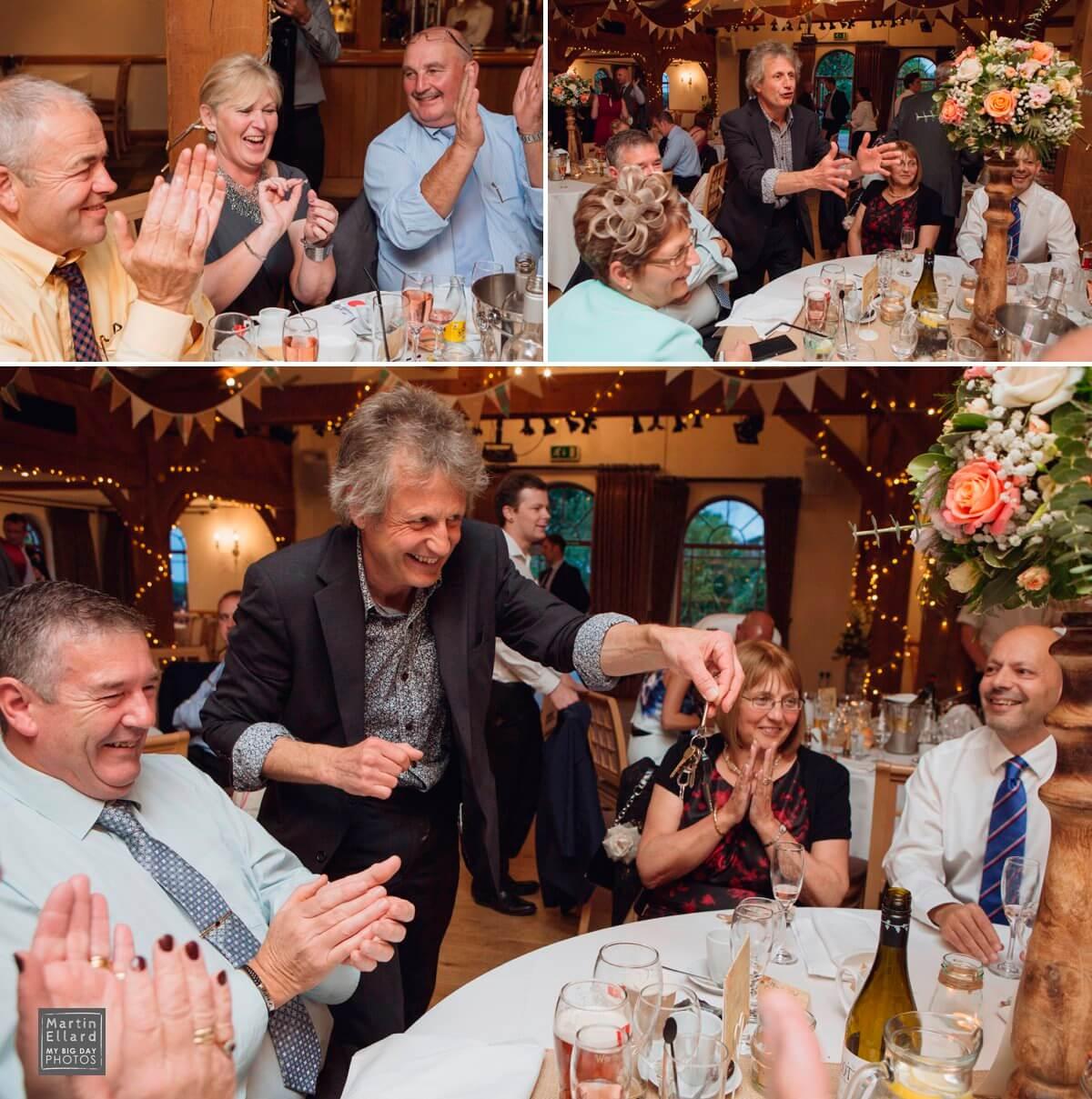 Luke Jugglestruck magician King Arthur Hotel wedding
