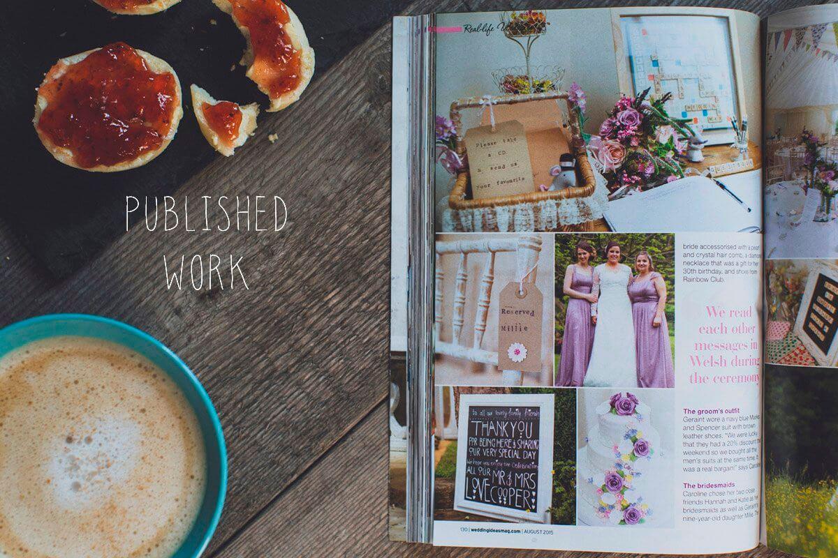 published wedding photography - Swansea wedding photographer
