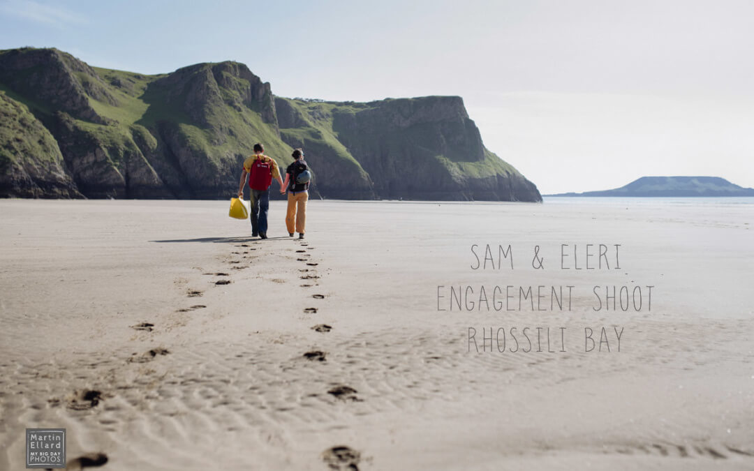 Gower rock climbing engagement shoot