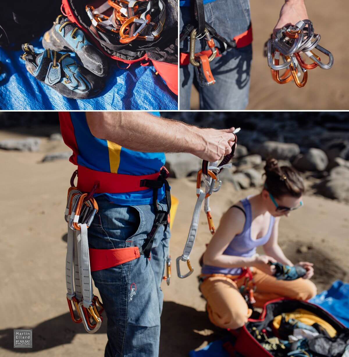 alternative climbing engagement shoot Gower Swansea wedding photographer South Wales outdoor life wanderlust travel adventurous couples