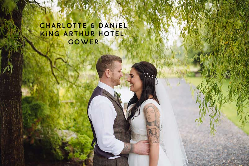 Charlotte and Daniel King Arthur Hotel Gower Swansea wedding photographer