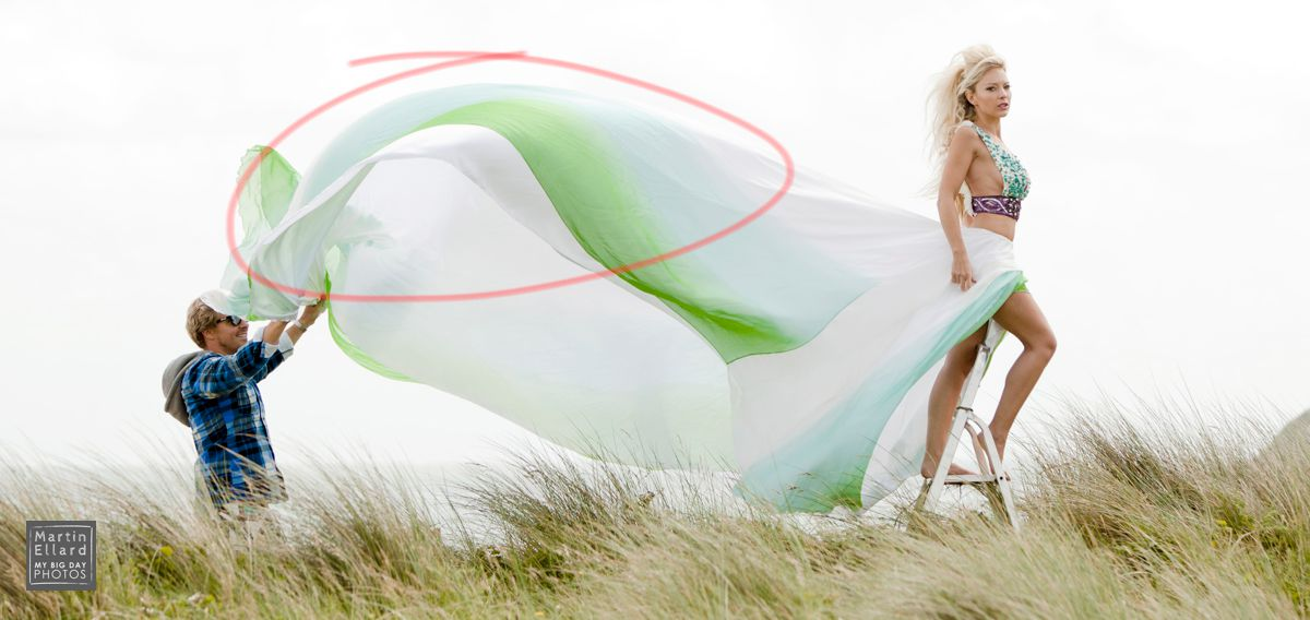 wales, welsh, pre wedding, fashion photography, behind the scenes, photoshop, post production