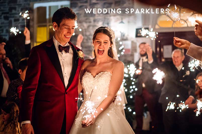 wedding sparkler photos