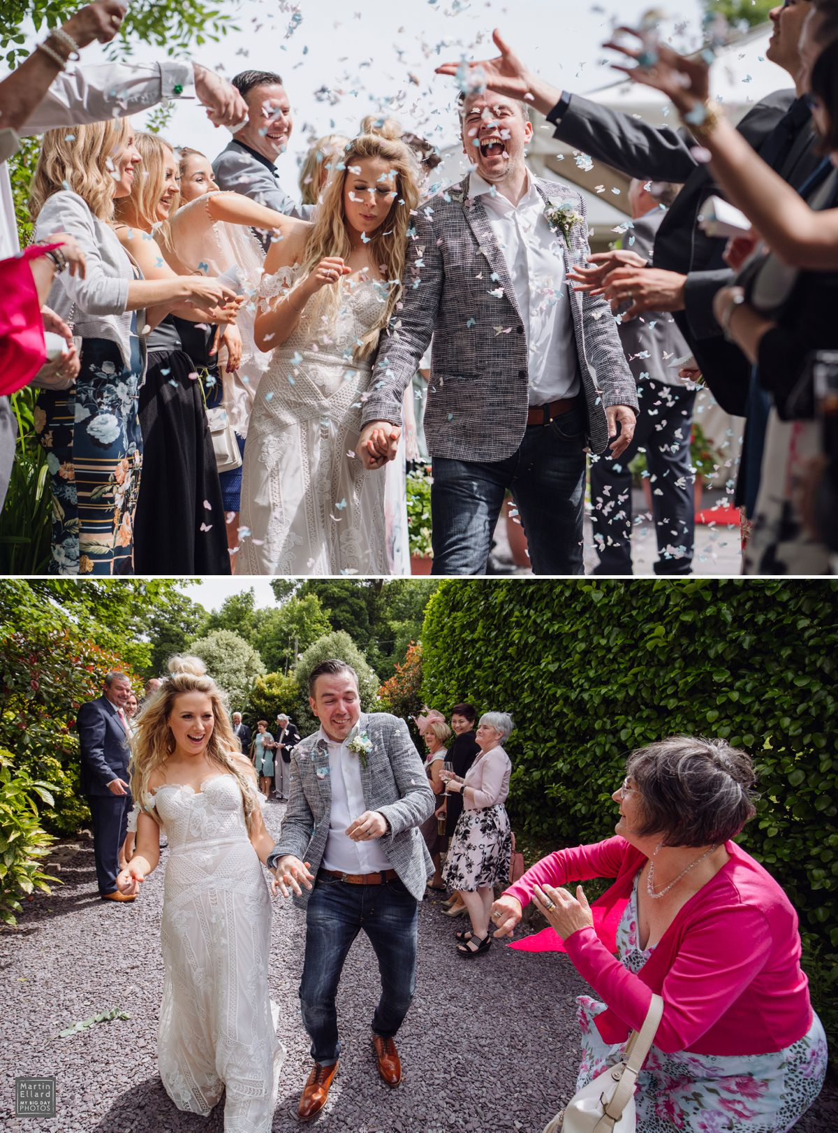Oxwich Bay Hotel wedding confetti