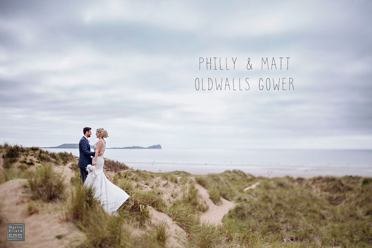 Philly and Matt Oldwalls Gower wedding photographer