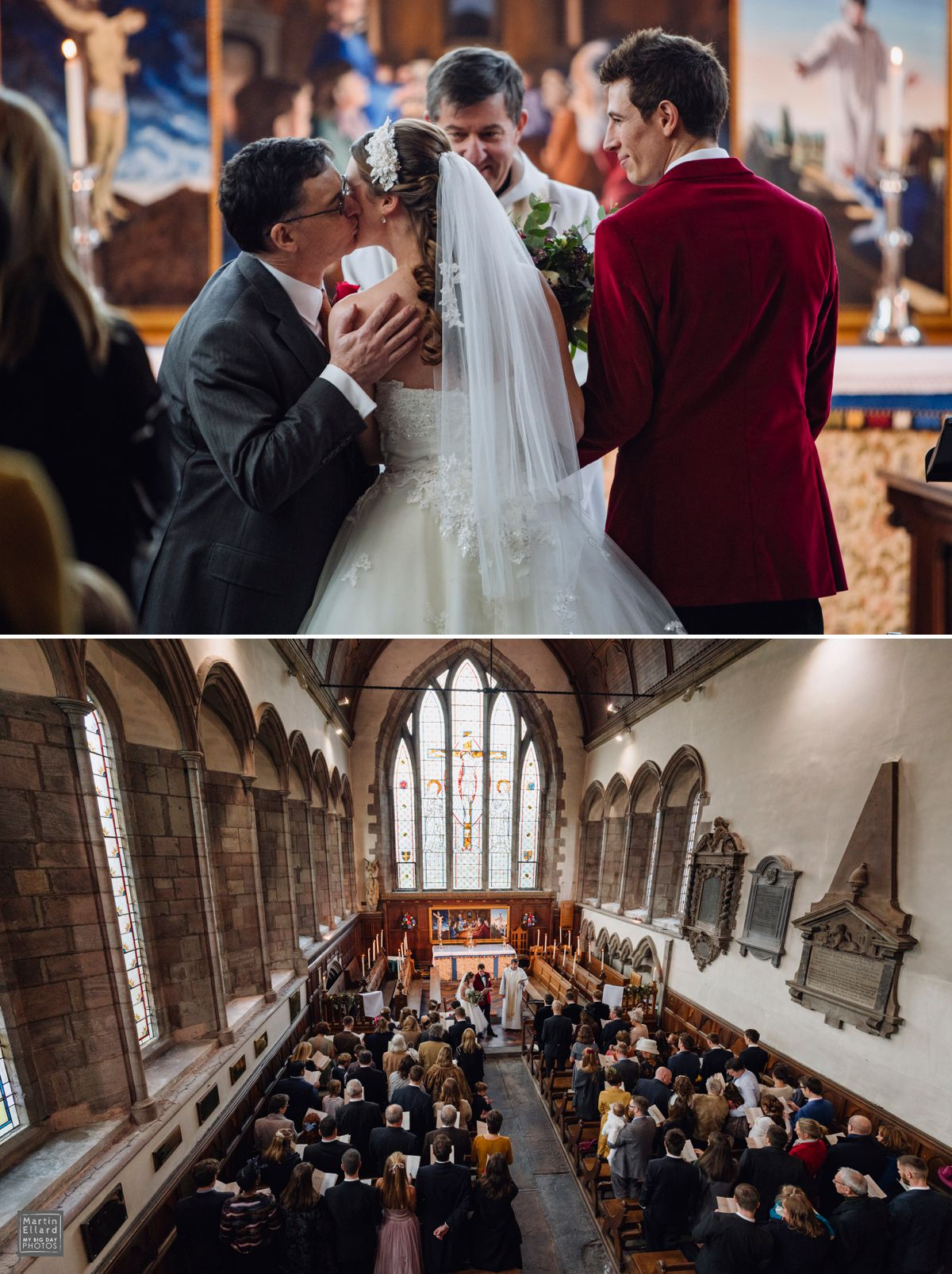 Church wedding in Brecon