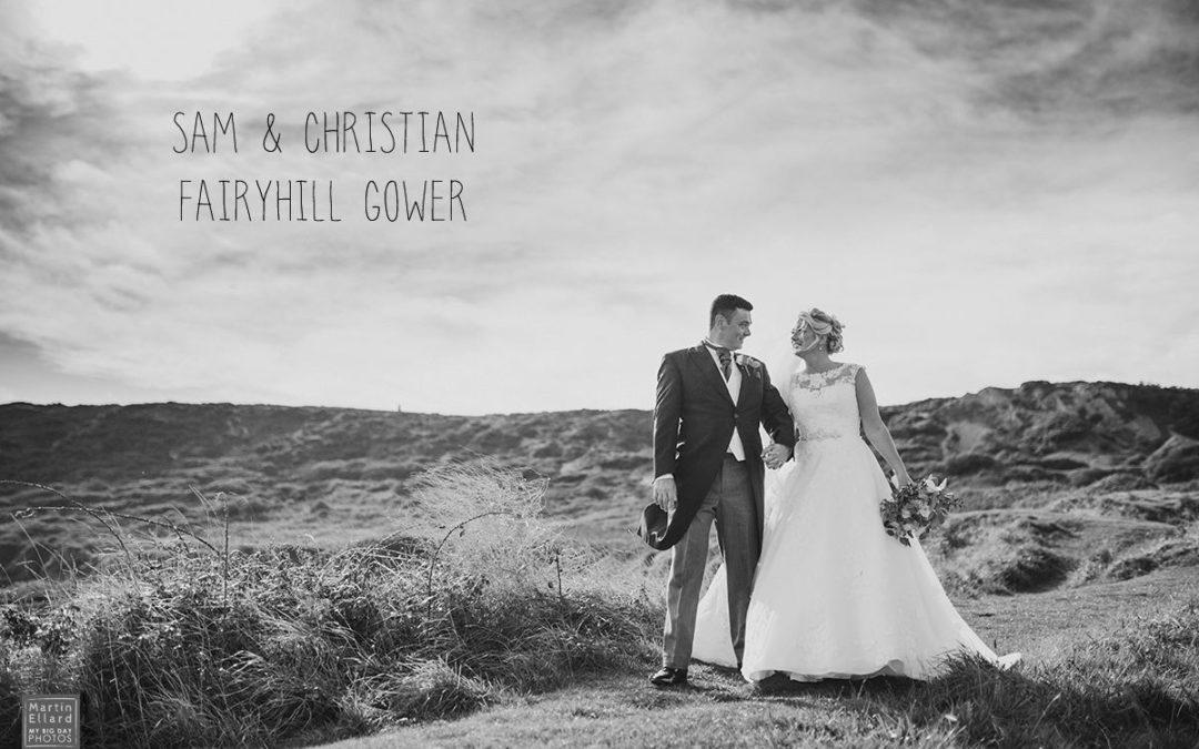 Samantha and Christian Fairyhill Gower wedding