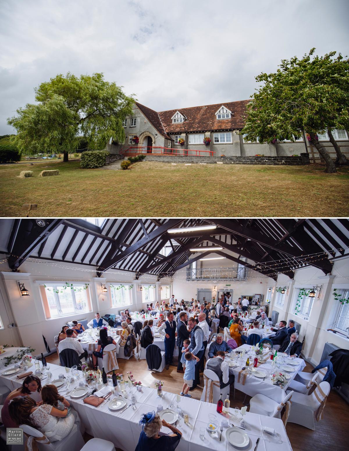 Community hall wedding