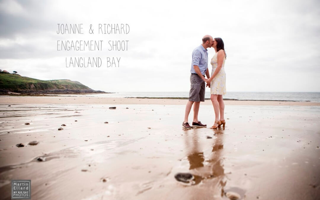 joanne and Richard's engagement shoot Langland Bay