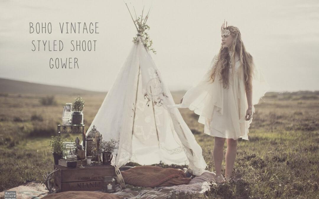 Gower vintage styled photoshoot
