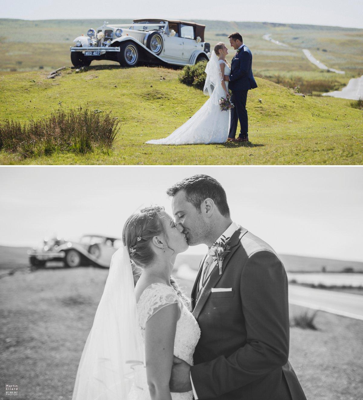 wedding couple kissing cefn bryn Gower photographer