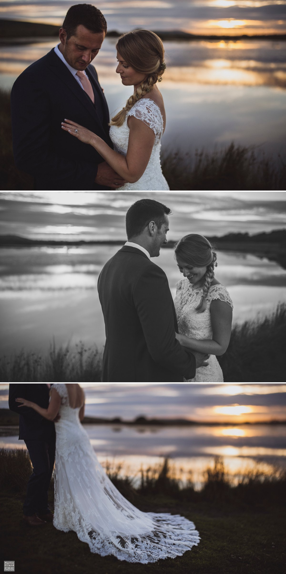 sunset over Gower wedding photograph