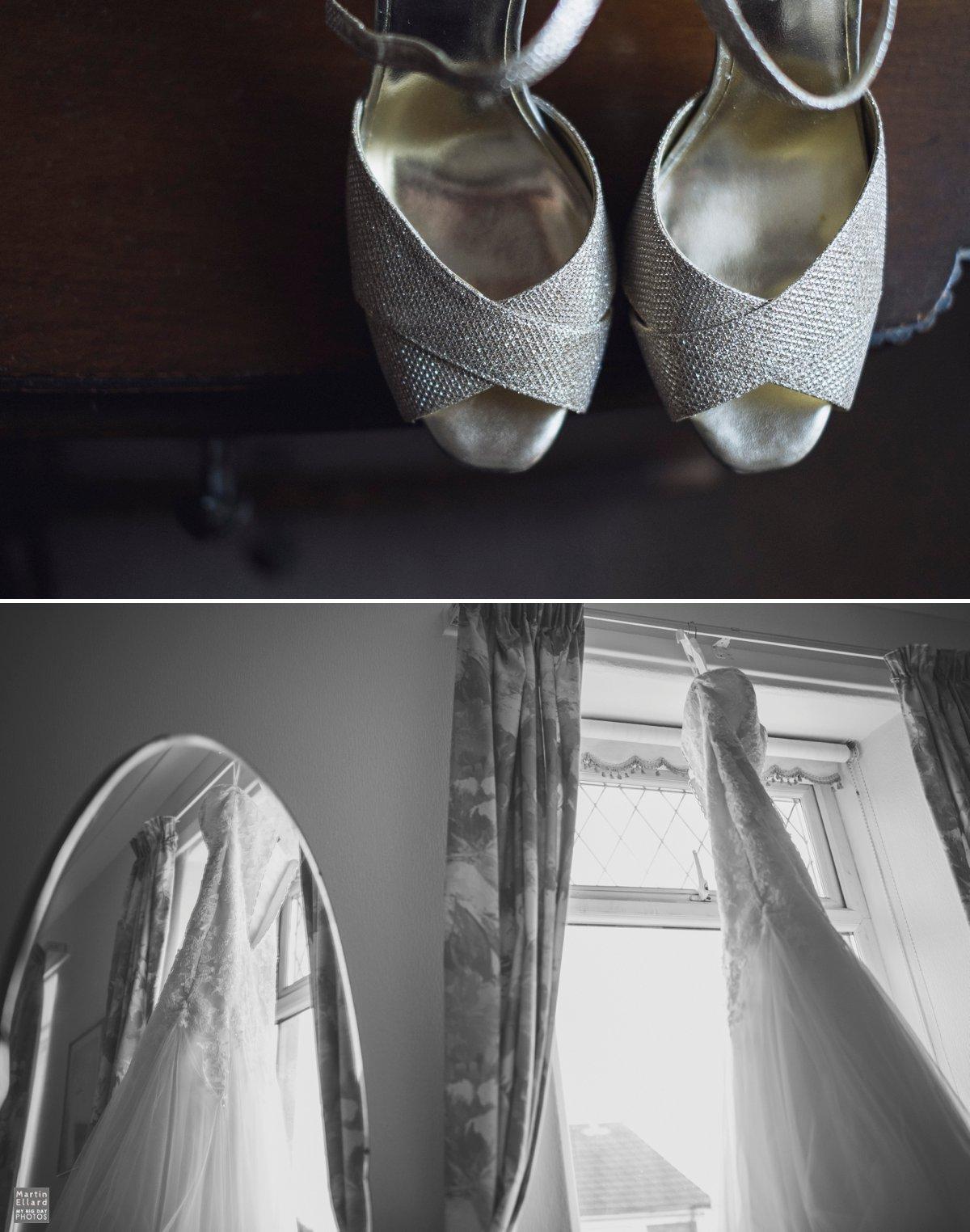Brides white shoes