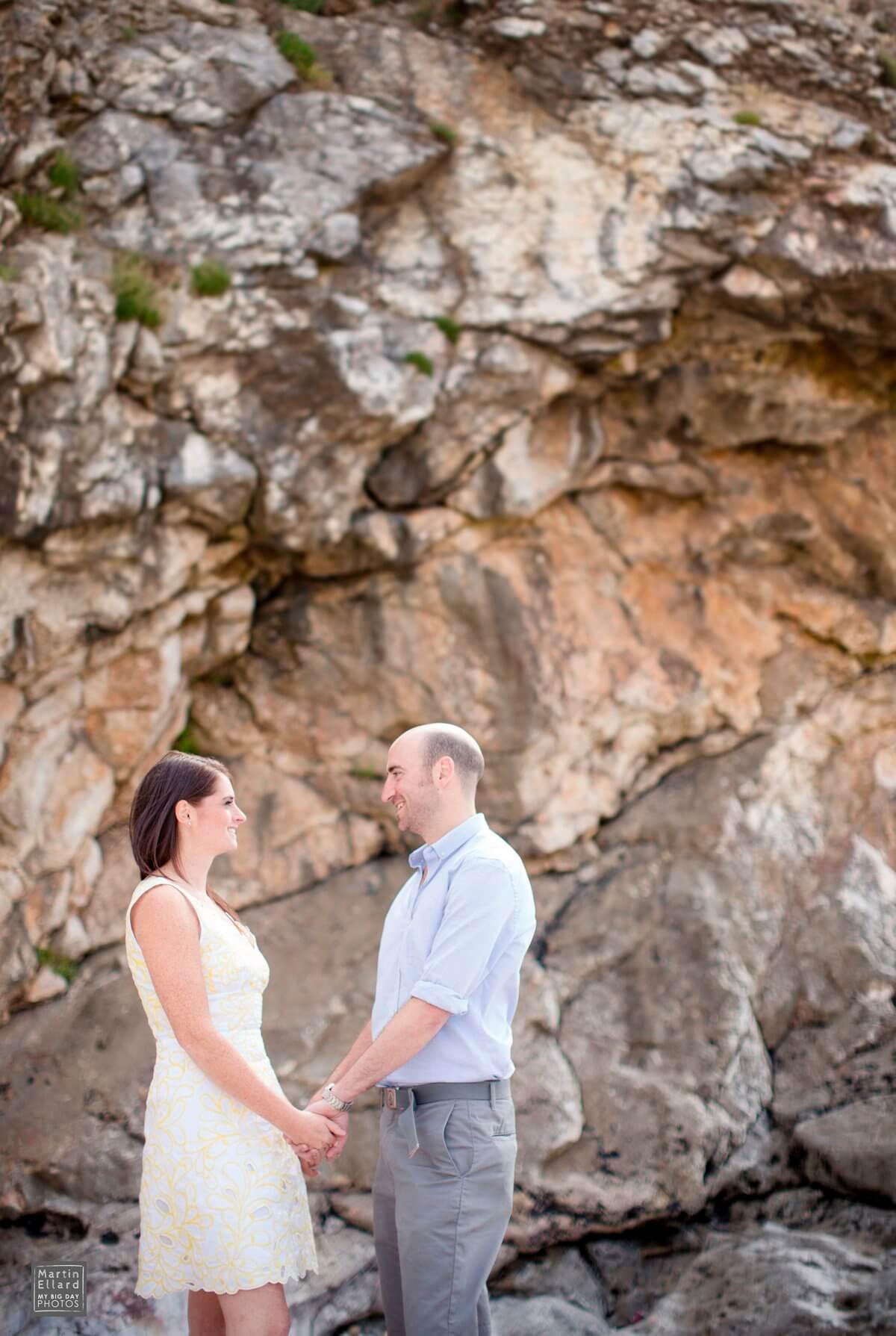 engagement shoot Langland Bay South Wales wedding photographer