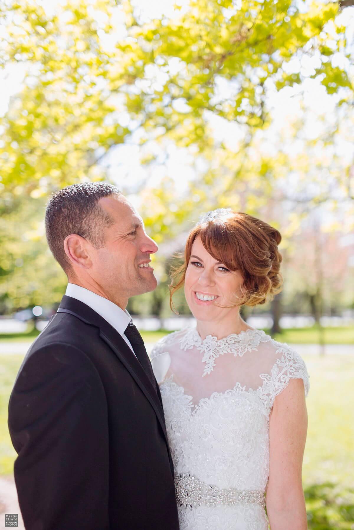 sunny natural light wedding photographs