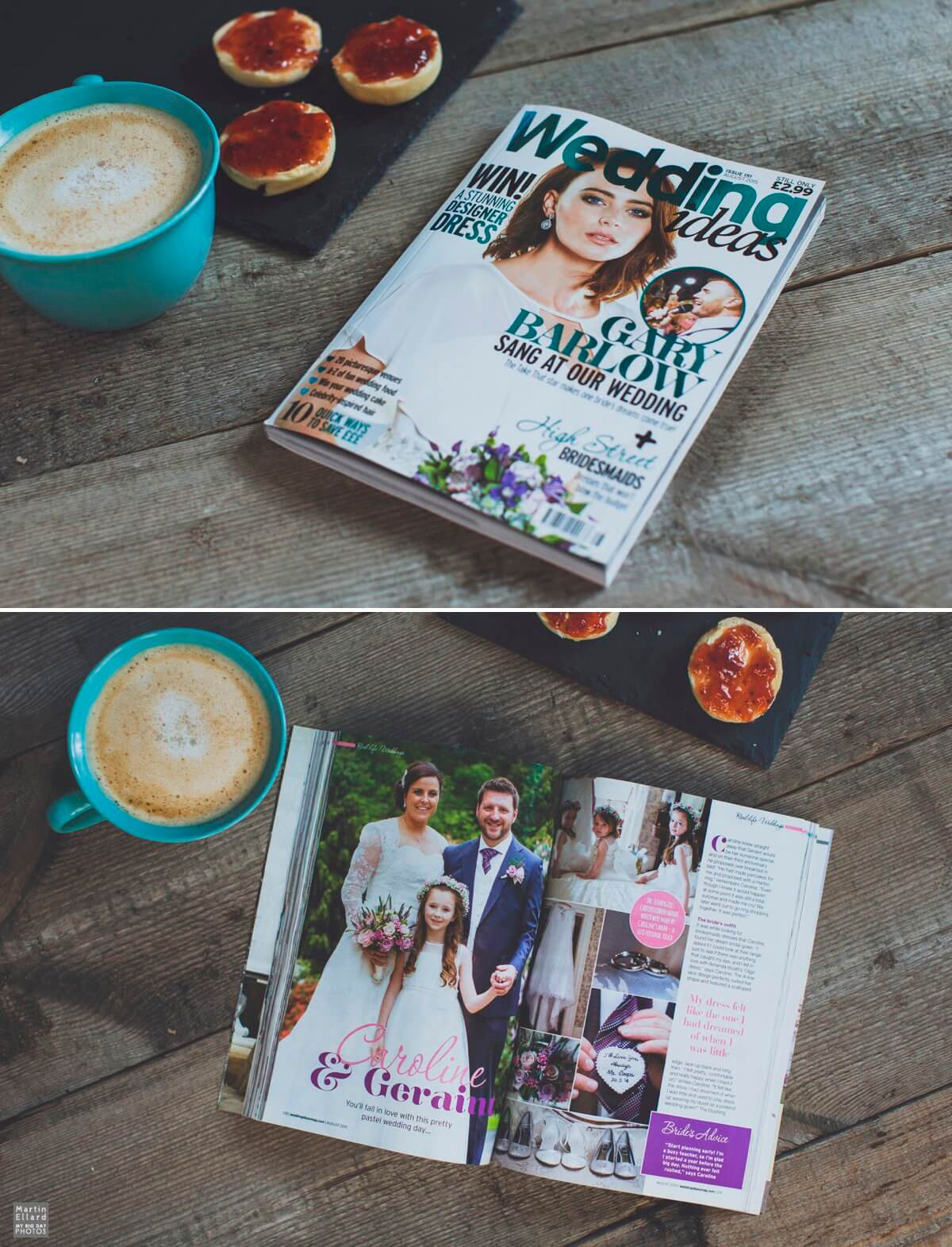 published wedding photography