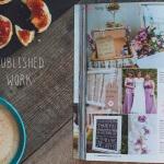 wedding photographs published in a magazine