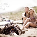 engagement beach shoot Oxwich Gower South Wales wedding photograher