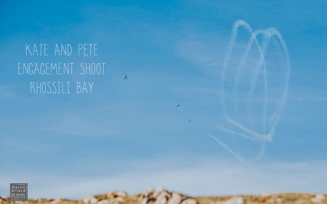 Kate and Pete Worms Head Gower engagement shoot