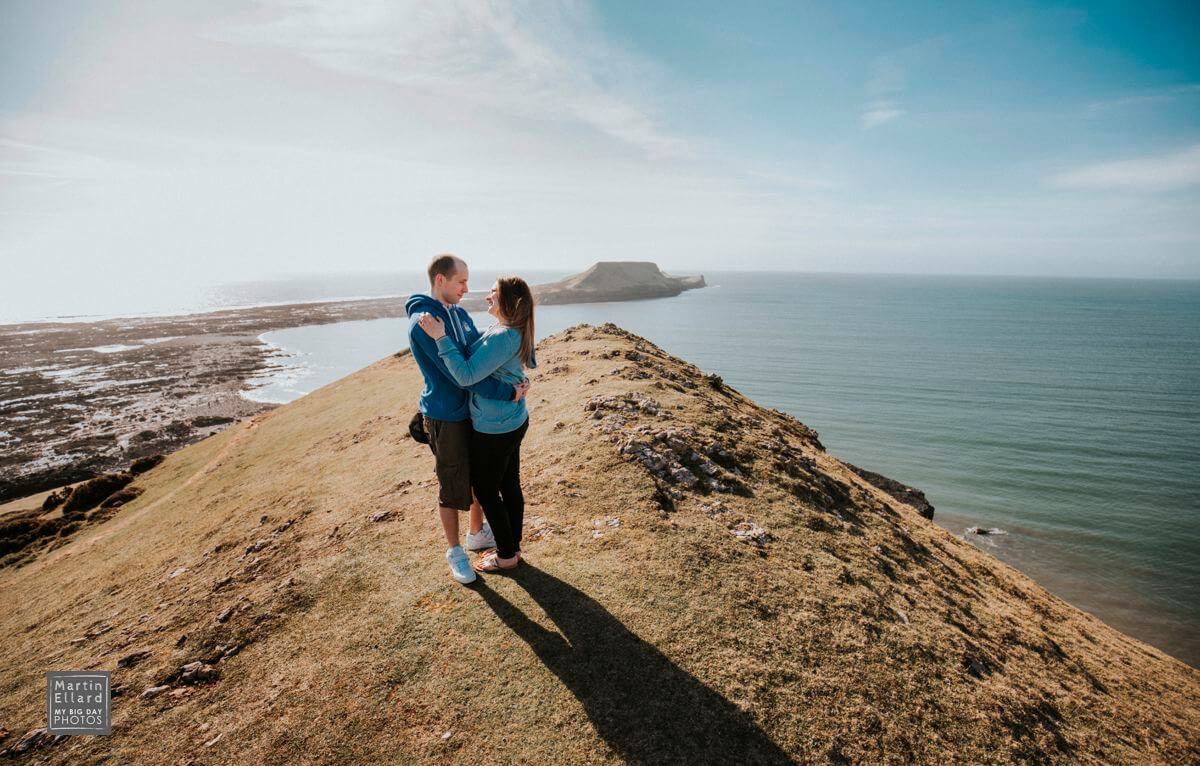 pre wedding shoot in Gower South Wales