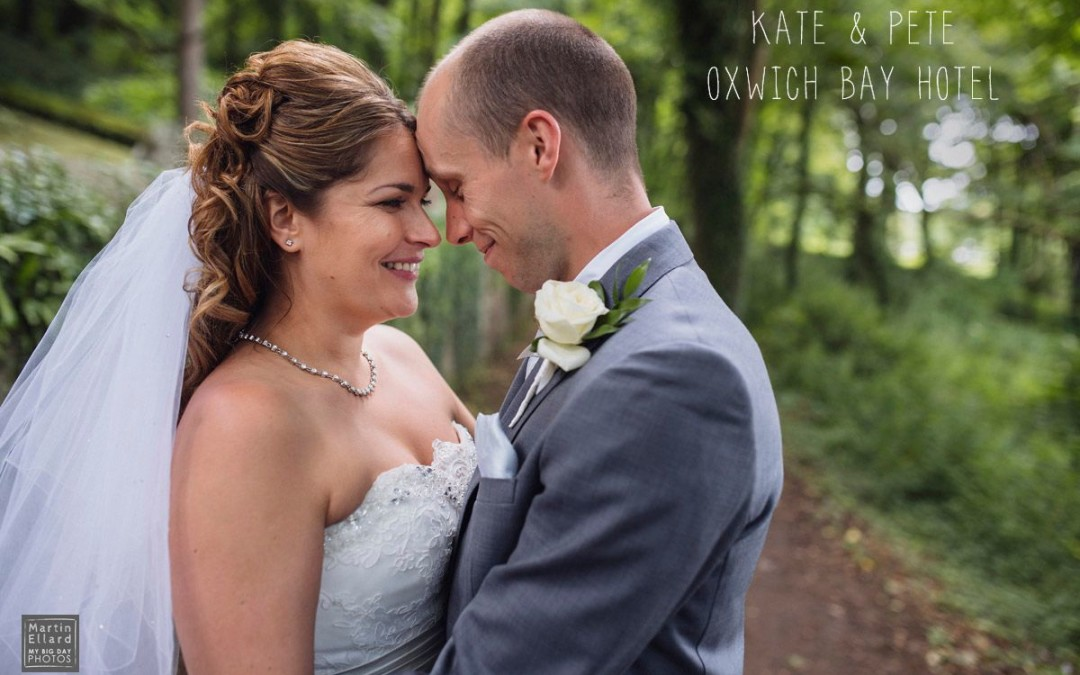 Kate and Pete Oxwich Bay Hotel wedding photography