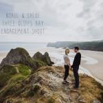 Three Cliffs Gower engagement shoot