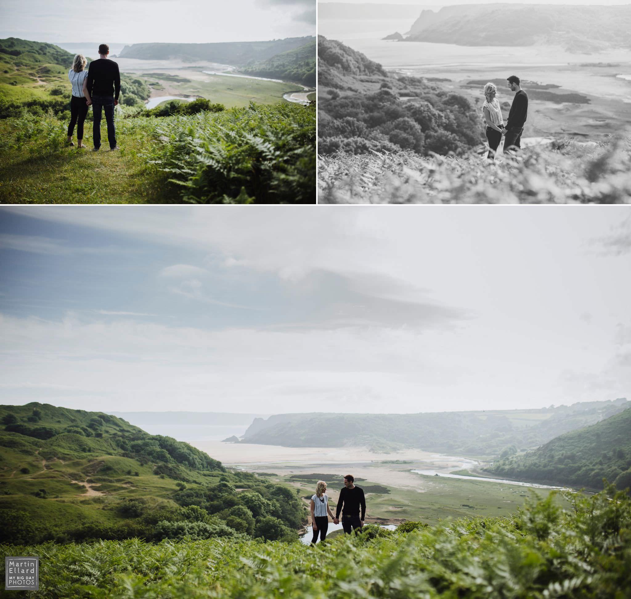 gower wedding photographer engagement shoot three cliffs bay