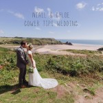 Summer wedding photography in Three Cliffs Bay Gower