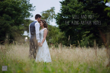 Nat and Will wedding King Arthur Hotel Swansea