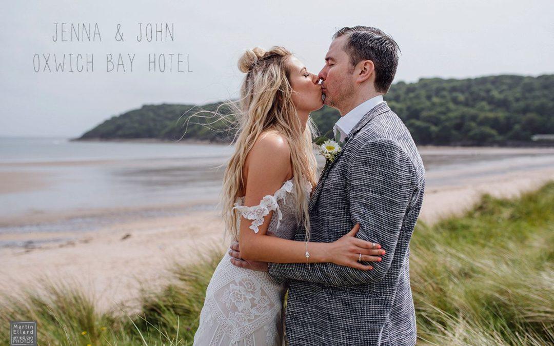 Jenna and John Oxwich Bay Hotel wedding