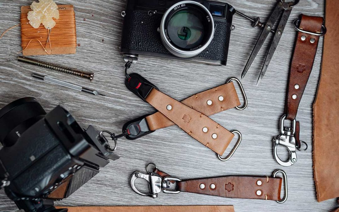 DIY leather camera harness