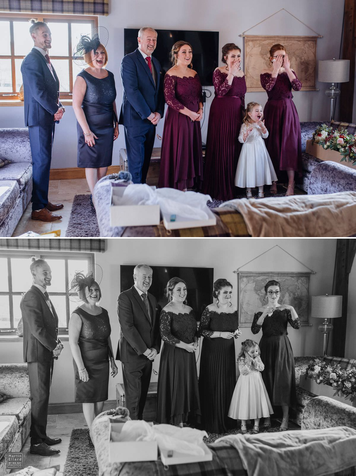 bride reveal pictures