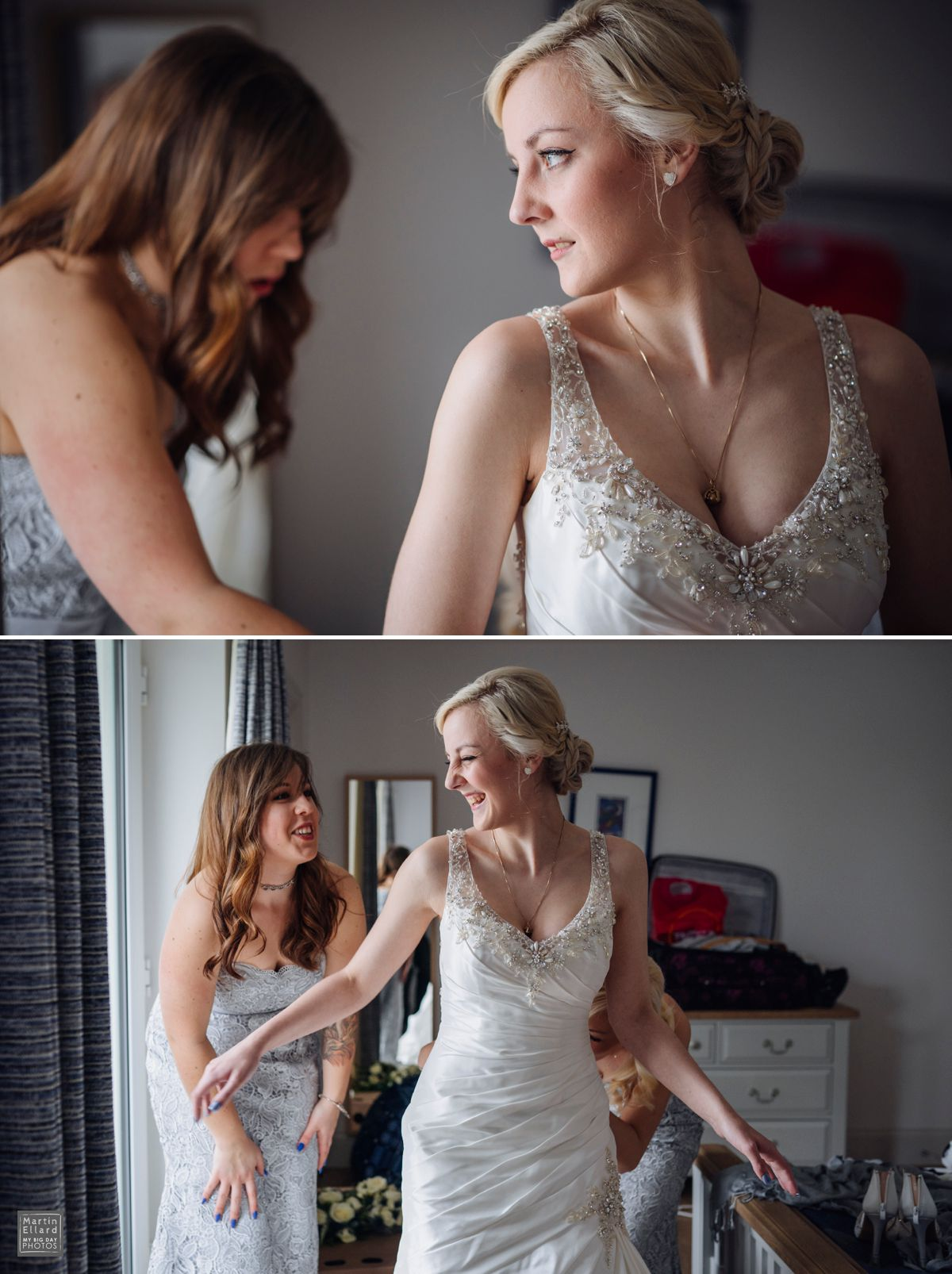 relaxed bride at the King Arthur hotel