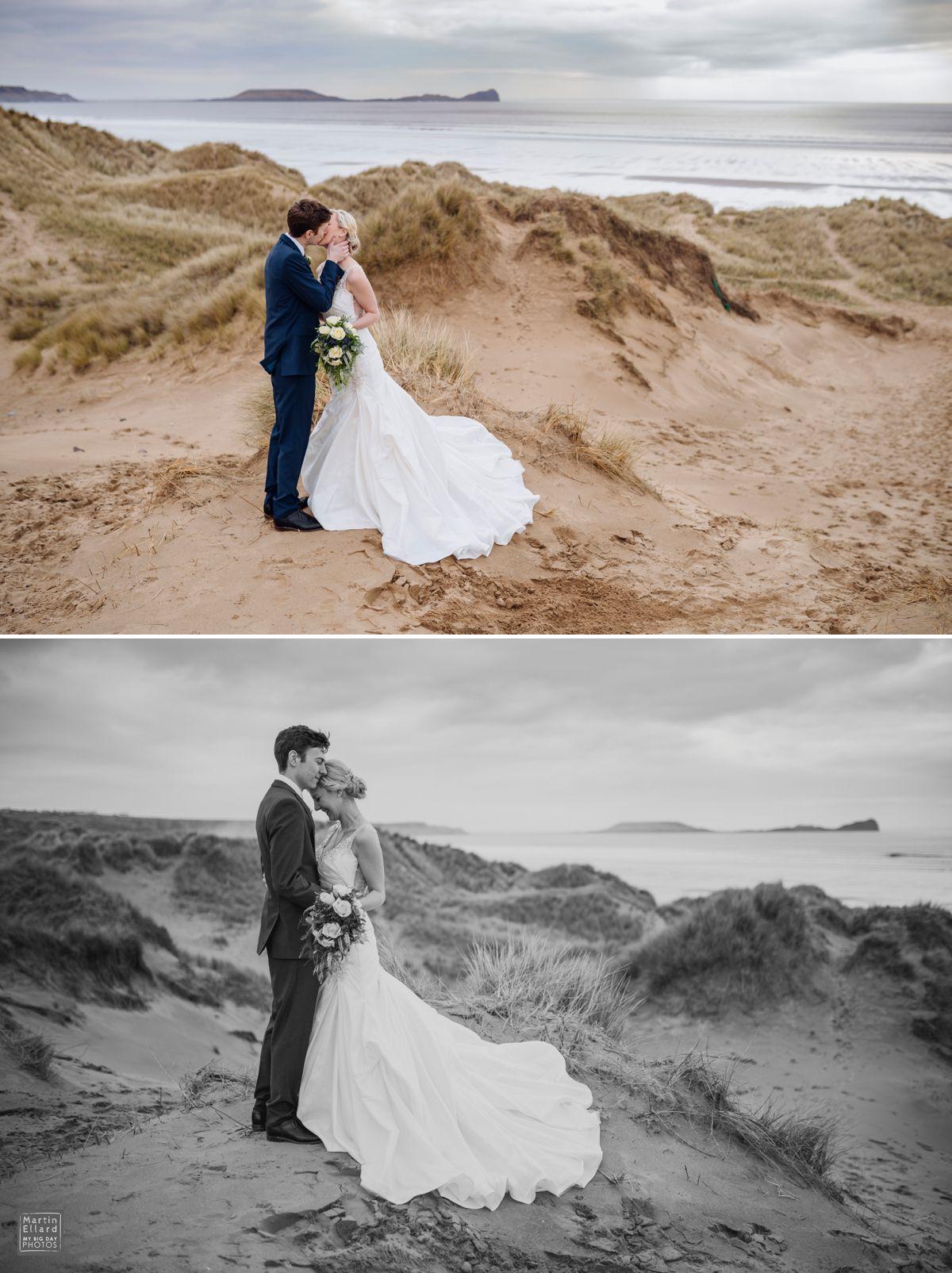 beautiful natural wedding photography Llangennith