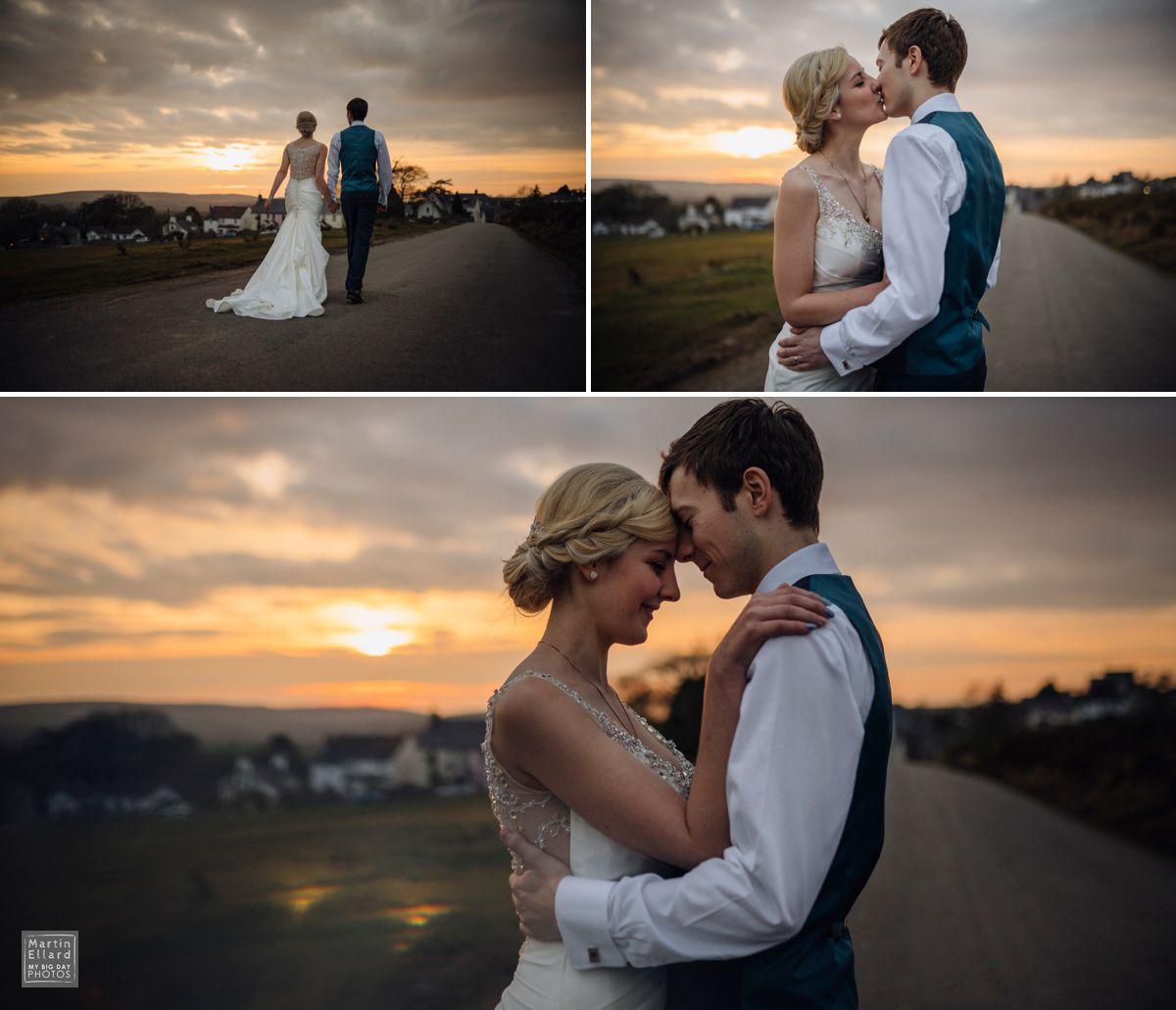 natural sunset wedding photography