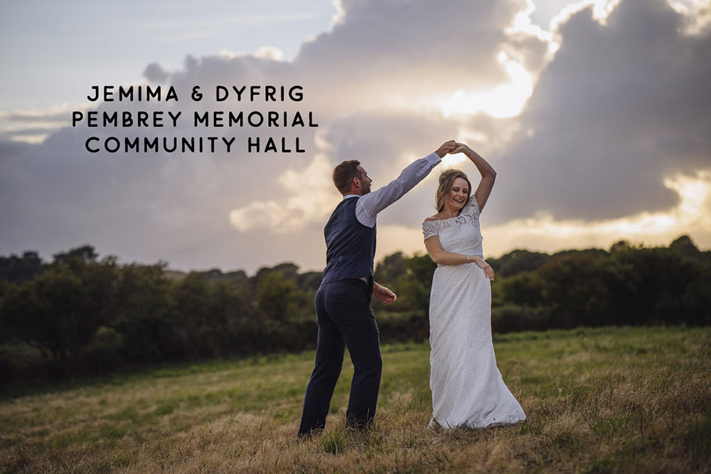 Community Hall DIY wedding photographer South Wales