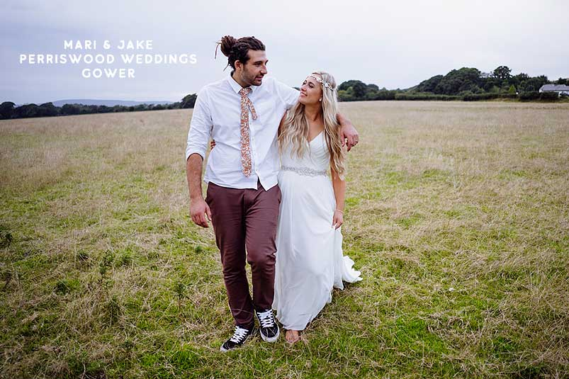 Mari and Jake's Perriswood boho wedding South Wales. Wedding photographer Martin Ellard My Big Day Photos Gower Swansea Wales