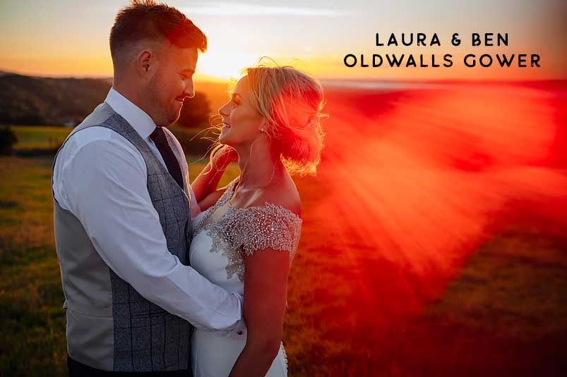 Oldwalls Gower South Wales marquee wedding
